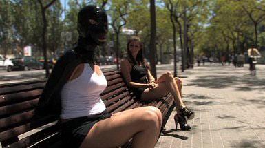 Public bondage sex